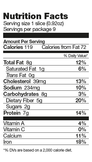 Nutrition Facts Bread Mix KZ